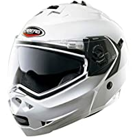 Casco Helmet Helm CABERG DUKE DOPPIA OMOLOGAZIONE apribile bianco white