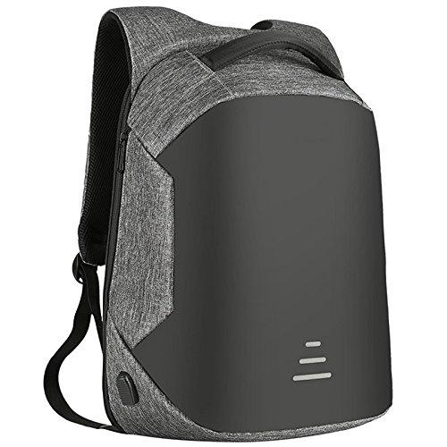 Zantec Rucksack fuer Männer, Business Rucksäcke USB Lade Design Schultasche Jugendliche Laptop Rucksack Oxford Leinwand Daypack