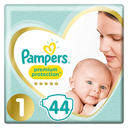 Pampers - New Baby Windeln,  Größe (2-5 kg), 2er Pack (2 x 44 Stück)