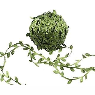 Shengchu Artificial Vines 132 Feet Fake Hanging Plants Fake Ivy Hanging Plants Green Leaf Garland DIY Wedding Wall Crafts Party Decor (Green)