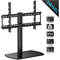 Fitueyes Universal Swivel Table Pedestal TV Stand for 32 to 65 inch TT107002GB