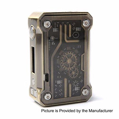 Authentische Tesla Punk 220W Akkuträger Box Mod Farbe mit Unishow Pouch (Brass)