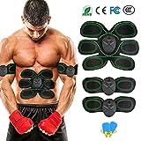 EGEYI Electroestimulador Muscular Abdominales Masajeador Eléctrico para Cinturón, Abdomen/Brazo/Piernas/Cintura Entrenador Muscular (Hombre/Mujer)