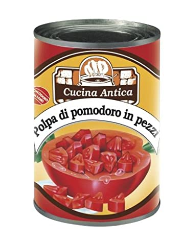 Cucina Antica - Chopped Tomatoes (Whole Bit Tomatoes) - 410 g (Pack of 2 Barr...
