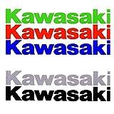 ALOBA KIT stickers autocollants vinyle adhésif KAWASAKI 2/4/6, différentes couleurs. 20cm (Rouge, 2 Unit)