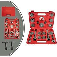 Leogreen - Kit de Herramientas de Reparación de Frenos, Juego de Herramientas de Frenos, 21 Partes, con estuche roja, Material: Acero C45