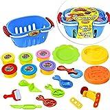 LISOPO 19pcs Pâte à Modeler Argile pour Les Enfants Emporte-pièces Moules Kit pour Argile Jouet créatif des Enfants Coupeurs de Biscuits pour Enfants (L)