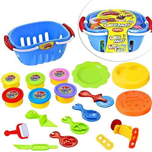 LISOPO Intelligente knete mit Knetwerkzeug Für Kinder, Knete Set als Kinder Geschenk, Kinderknete Für Lernspielzeug