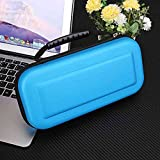Leoie CE Portable Hard Protective Handle Carry Case Cover Zipper Protective Shell Blue