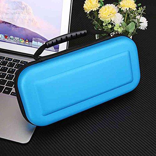 XuBa Tragbare Hartschalen-Schutzhülle mit Reißverschluss blau blau