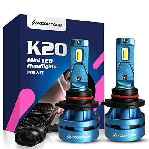 Koomtoom mini 9005 lampadine lampadina LED kits- CREE chips Ture 360 ° fascio luminoso 8000LM (2 x 4000LM) 55 W (2 x 27.5 W) 5000 K - anno di garanzia (9005)
