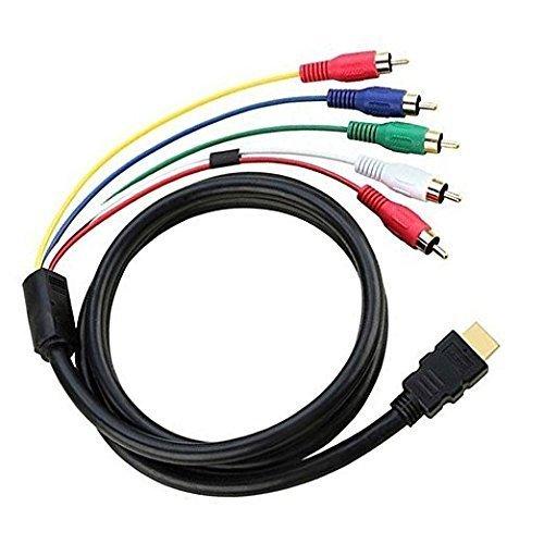 Hdmi 5 Die An Cinch-kabel (HDMI auf Cinch Kabel, chenduomi HDMI Männlich Zu 5RCA Video Audio AV Konverter Adapter Kabel für HDTV DVD und die meisten LCD-Projektoren)