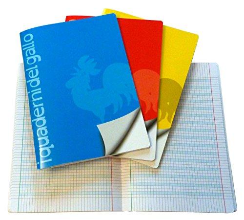 4 quaderni speciali per disgrafia e dislessia a quadretti da 5 mm.