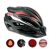 A-Best Fahrradhelm mit LED-Licht, CE-Zertifikat, Specialized Cycle Helm mit Sicherheitsleuchte Super Light Integrally Bike Helm Adult Bike Helm mit Abnehmbarem Visier und Liner