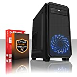 Fierce EXILE PC Gamer - Rápido 4 x 3.8GHz Quad Core AMD A-Series 7600 - 1TB Disco duro - 16GB de 1600MHz DDR3 RAM/Memoria - AMD Radeon R7 Integrated Graphics - HDMI, USB3, Wi-Fi - 24X DVD/CD Drive - Entrada perfecta en juegos de PC - Windows no Incluido - Garantía De 3 Años - (407833)
