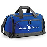iClobber Personalised Street Dancer Dancing Holdall Your Name and Dance Design Royal Blue