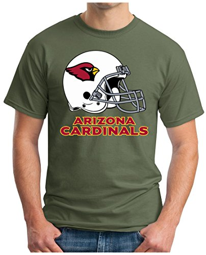 OM3 Arizona Cardinals - T-Shirt | Herren | American Football Shirt | Super Bowl 52 LII | NFL | S - 5XL Oliv