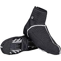 LIOOBO Zapatillas de Bicicleta de Motocicleta a Prueba de Agua Cubiertas Reutilizables Zapatos Antideslizantes Cubrebotas Engranaje Hombres Mujeres Tamaño 44