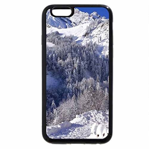 iPhone 6S / iPhone 6 Case (Black) WINTER IN THE MOUNTAIN