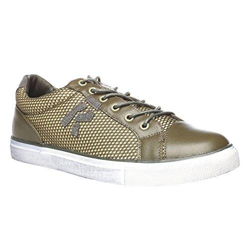 RIFLE Sneakers da uomo, scarpa bassa stringata - Mod. 162-M-303-562 Verde Militare