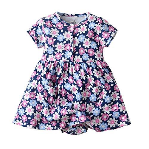 mendruck babykleid, Partykleid Ärmellos Kurzarm Minikleid Prinzessin Abendkleid Elegant Geburtstag Outfits KleidungKinder Casual Strandkleider ()