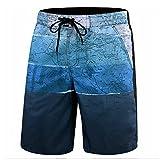 Leezepro Badeshorts Herren kurz Badehose Sommer schnell trockend Bademode Boardshorts für Männer(EU XL, Blau) (Verpackung/MEHRWEG)