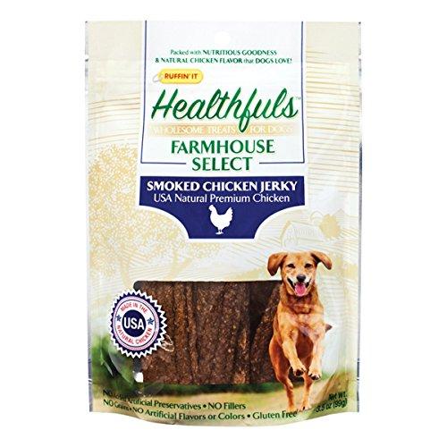 Earscrubbers Ruffin'it Healthfuls 08513 Hundeleckerlis, geräuchertes Huhn, 1-Pack