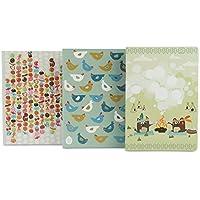 Les Skewies - 3 cuadernos de bocetos Trio Fantasy - Tamaño A5, 40 páginas blancas