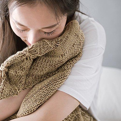WLM Meerjungfrau-Endstück-Häkelarbeit-Decke-weiche Sofa-Nixe-Decke strickte Meerjungfrau-Schwanz-erwachsene Schlaftasche die ganze Jahreszeit. (Dunkelbraun)