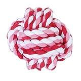 Haustier Hund geflochtenes Baumwoll Seil Knoten kauen Spiele Spielzeug - 2