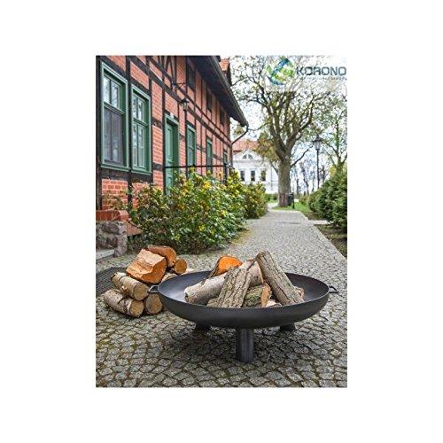 KORONO 5900105400215 Feuerschale, Rohstal, 110 x 110 x 30 cm