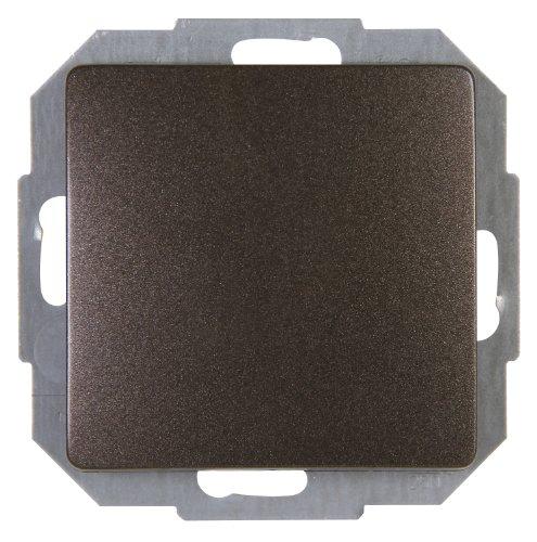 Kopp Paris Universalschalter (Aus- und Wechselschalter), Lichtschalter für den Haushalt, 250 V (10A), IP20, Unterputz, einfache Wandmontage, palisander-braun, 650626087