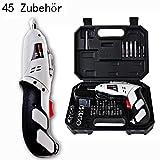 Candora 45pc Haushalts - Reversible Wiederaufladbaren Bohrer 4.8v Elektrischer Schraubendreher Dampfhammer - Tool