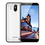 HOMTOM S16 3G Smartphone Ohne Vertrag Android 7.0 5,5 Zoll Display(18: 9) Quad Core Dual SIM 2GB RAM+16GB ROM 8MP+2MP+5MP Kameras Fingerabdrucksensor(Weiß)