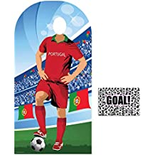 BundleZ-4-FanZ by Starstills Fan Pack - World Cup Football 2018 Portugal Stand-In Lifesize Adult Cardboard Cutout with 20cm x 25cm Star Photo