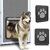Ownpets Pet Screen Door, Magnetic Flap Screen Automatic Lockable Black Door for Small/Medium Dog and Cat Gate