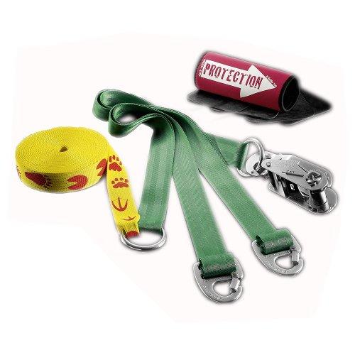 Slackline-Tools Set Kids 'n' Slack, 12 m lang, 4,5 cm breit + Baumschutz
