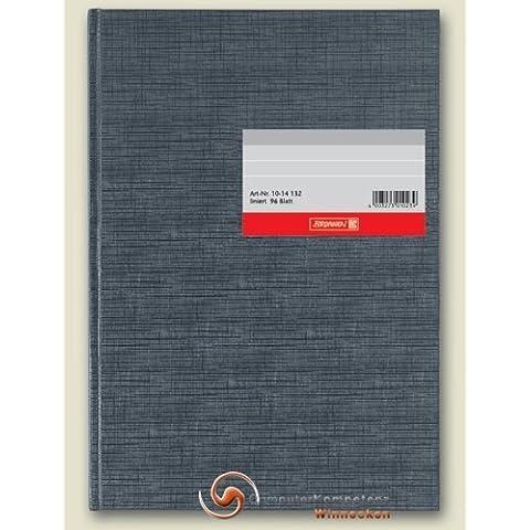 König & Ebhardt libro de negocios, una manta de piel de elefante, tela escocesa, A4, 210 x 257 mm, 96 hojas, de color azul