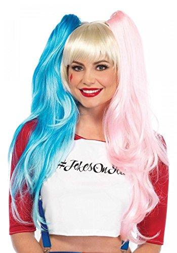 cke mit Zöpfen von Leg Avenue Haare Clown Fantasy (Harley Quinn Clown Kostüme)