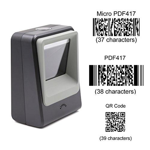 teemi 2D Barcode Reader USB Automatische Barcode Scanner für mobile Freisprechanlage Zahlung Supermarkt Bibliothek Handel Lager schwarz