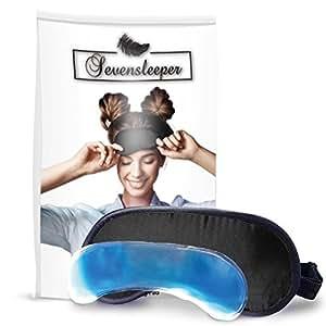 Siebenschläfer Schlafmaske mit Kühlkissen - Für tiefen Schlaf und optimale Erholung