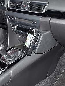 KUDA Console de téléphone (LHD) pour Mazda 3à partir de 2013(type BM) Simili Cuir Noir