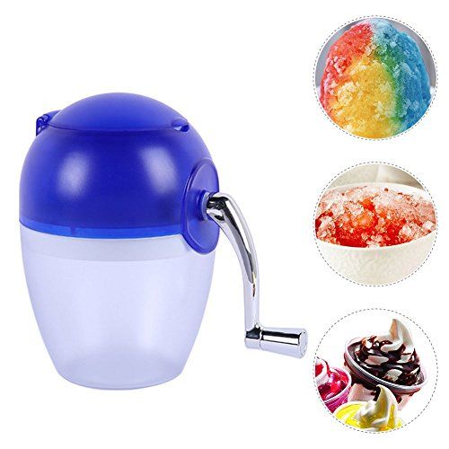 Gaeruite Ice Crusher Manual Machine, Ice Shaver, Ice Crusher Manual Hand Crank Ice Grinder, Manual Hand Crank Ice Crusher Shaver Brand New Home Ice Mini Smoothie Machine