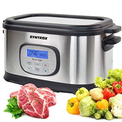 Syntrox Germany Sous Vide Kocher Multikocher, Vakuumgarer, Slow Cooker Langsamgarer, Schongarer der Premiumklasse