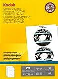 Kodak-Etichette stampabili per CD/DVD, confezione da 20
