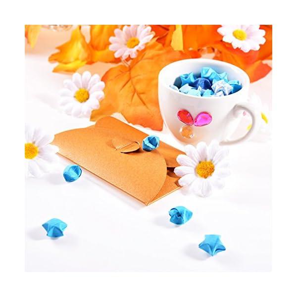120 Piezas de Flor de Margaritas Artificiales Flores de Tela Gerbera Blancas para Bonnet de Pascua Decoración de Boda y…