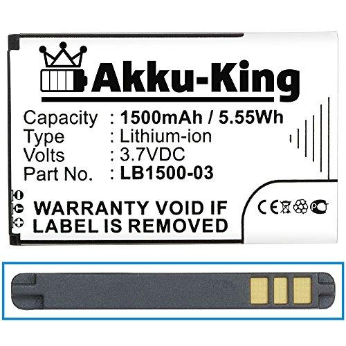 Akku-King Akku für Huawei T5, E5331, ideos X5, Trekstor WLAN, T-Mobile Pulse, 4G Systems XSBox GO WLan Hotspot - ersetzt LB1500-03 - Li-Ion 1500mAh