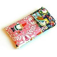 Handytasche aus Stoff - PATCHWORK LOOK MIT GARTENZWERG - mit Klett für APPLE iPhone 8 , 7 , 6s und 6 - gepolsterte Handyhülle - Smartphone-Hülle - Handy-Tasche / Handy-Hülle - iPhone-Tasche / iPhone-Hülle - Geschenk Weihnachten Geburtstag Muttertag Ostern - case / sleeve