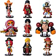 Stylish mini model of ONE PIECE nine figure as a set