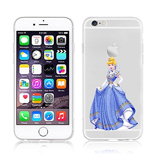 RONNEY'S Disney ARIEL Transparent TPU Soft case for Apple Iphone 7 PLUS CINDERELLA5